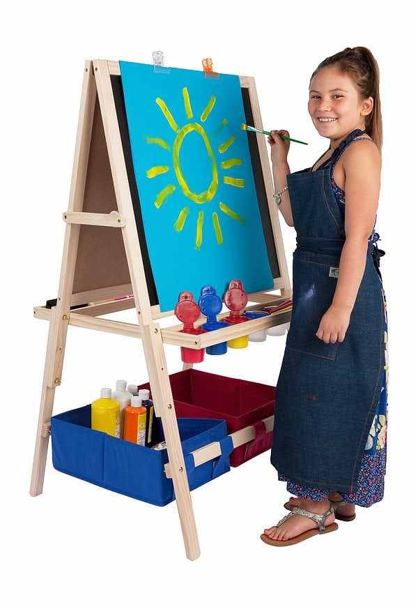 First Impressions Children's Easel – Wooden Easel w/ Storage Bins by Jerry's Artarama