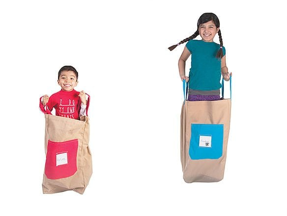 """Cotton Canvas """"Jumping Sacks"""" Set of Two Sacks by Pacific Play Tents"""