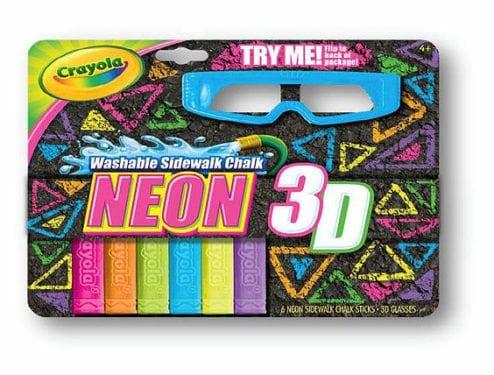 Crayola Neon 3D Chalk Set by Crayola