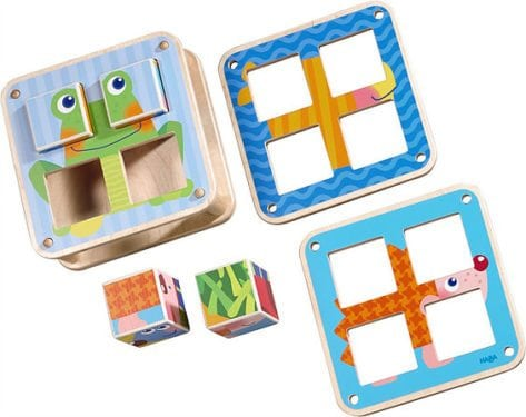 Cubes Puzzle Garden Animals by HABA