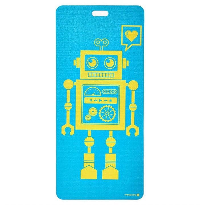 Eco Mat for Kids - Pixel the Robot, Aqua by Merrithew