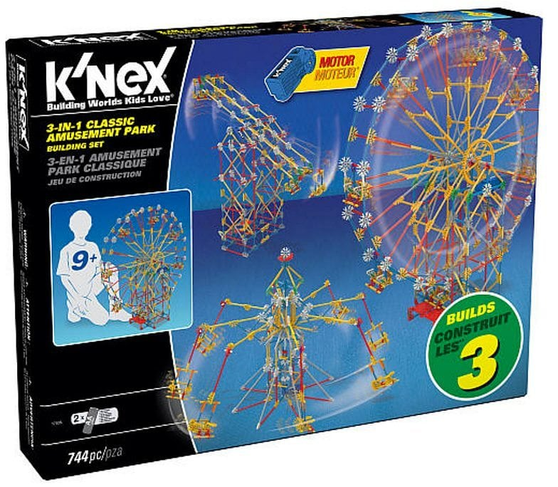 K'NEX 3-in-1 Classic Amusement Park Building Set