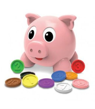 Learn With Me - Numbers & Colors Pig E Bank by The Learning Journey International