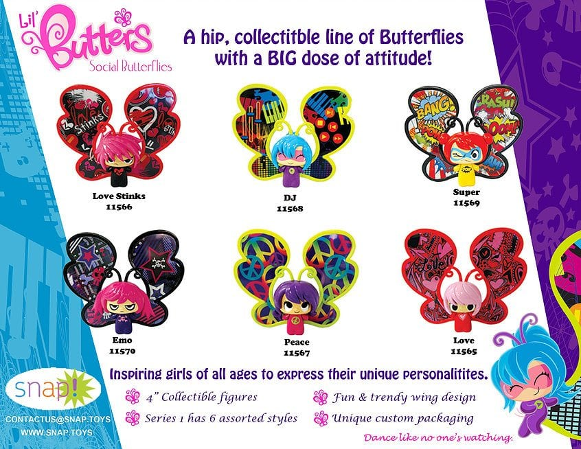 Lil' Butters Social Butterflies by Snap Toys