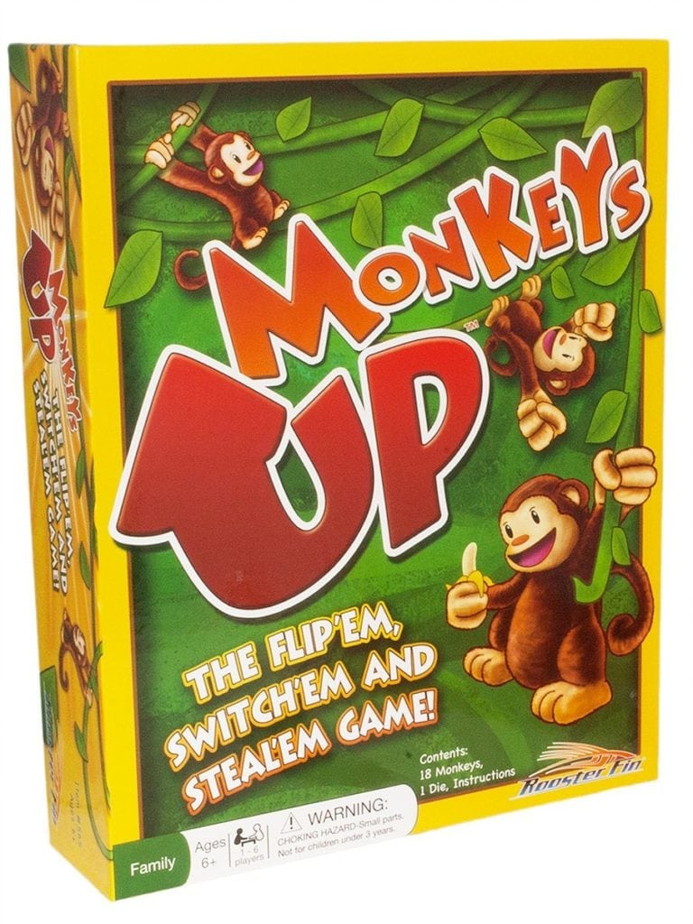 Monkeys up board game