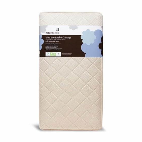 Naturepedic Organic Cotton Lightweight 2-Stage Crib Mattress
