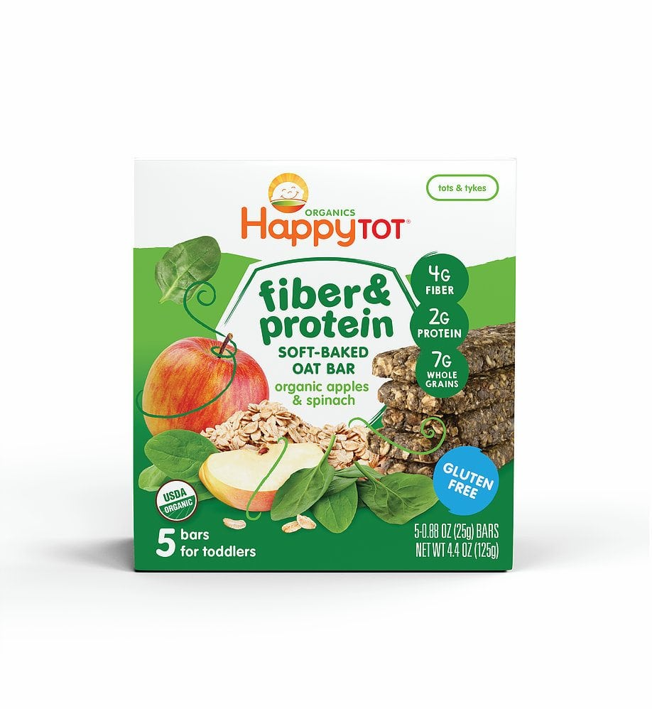 Organic Fiber & Protein Soft-Baked Oat Bars by Happy Family