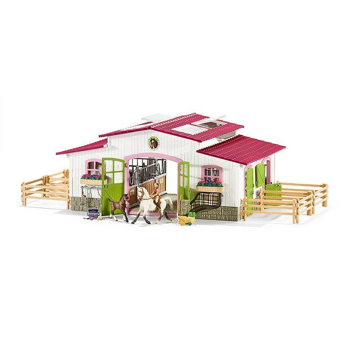 Riding Center with Rider, Horses and Accessories by Schleich USA Inc.
