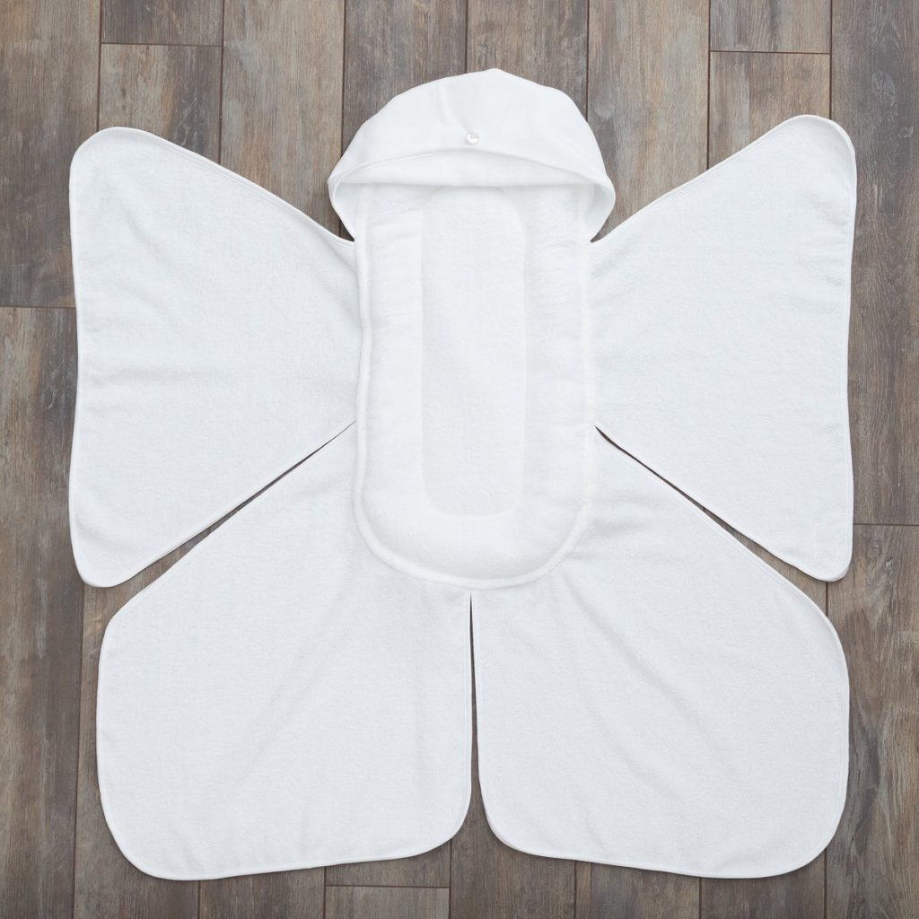 Snow Angel Cushioned Baby Bath Towel