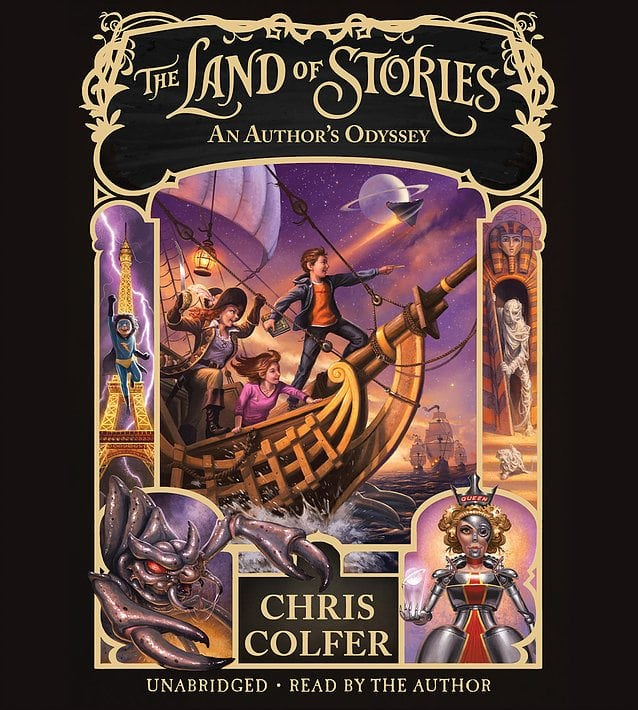 THE LAND OF STORIES- AN AUTHOR'S ODYSSEY written and read by Chris Colfer by Hachette Audio