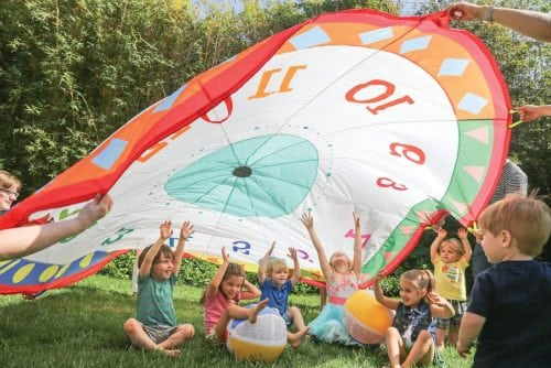 Tick Tock Clock 12ft Parachute by Pacific Play Tents