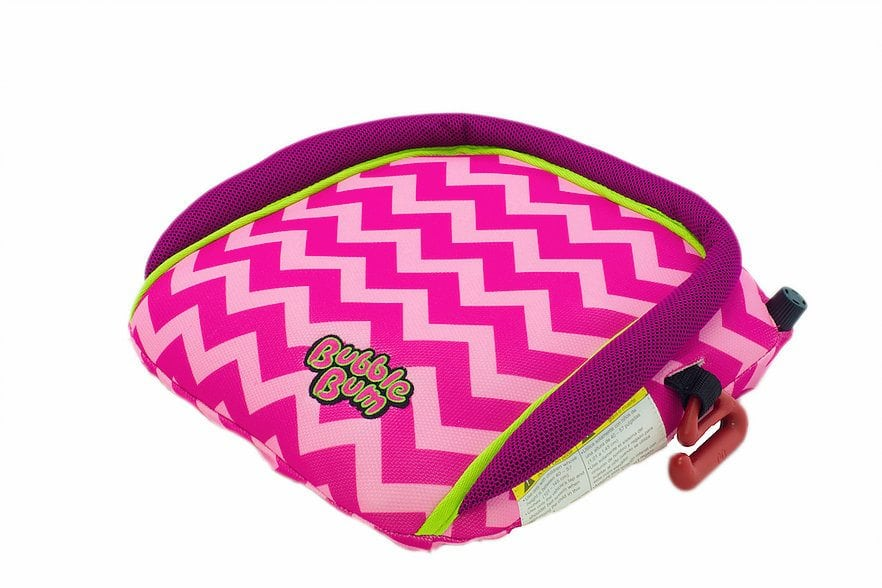 BubbleBum Inflatable Car Booster Seat in Cotton Candy/Raspberry