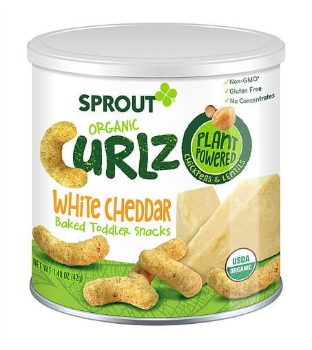 Sprout Organic Curlz: White Cheddar