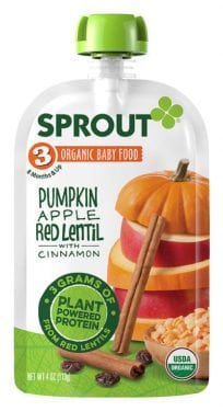 Sprout Stage 3 Plant-based Protein Baby Food Purees
