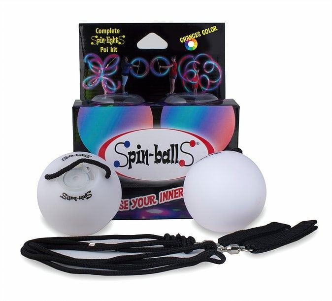 Spin balls LED poi