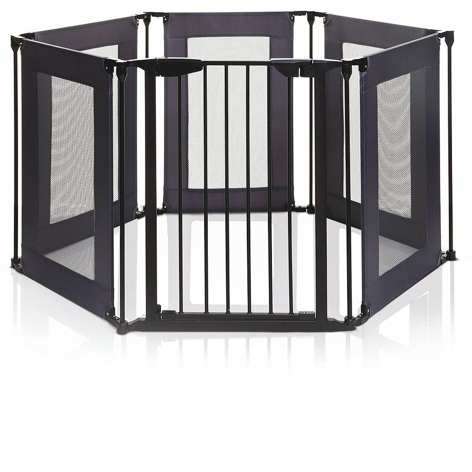 Dreambaby Brooklyn Converta Play-Pen and Wide Barrier Gate with Mesh Sides