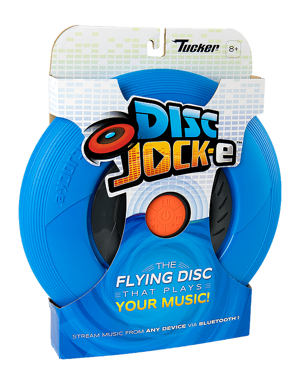 Tucker Toys' Disc Jock-E Flying Disc with Bluetooth