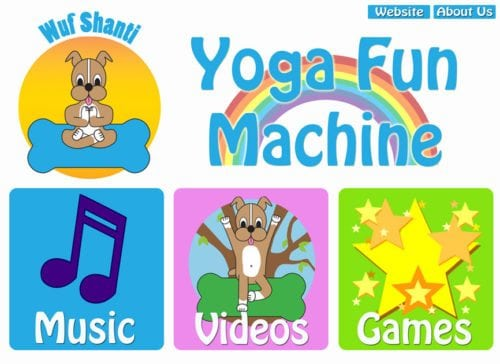 Wuf Shanti's Yoga Fun Machine Mindful Mobile App