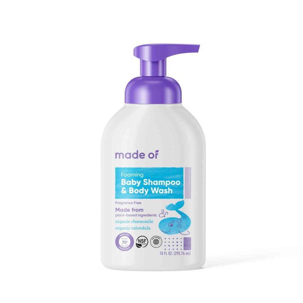 MADE OF Foaming Organic Baby Shampoo