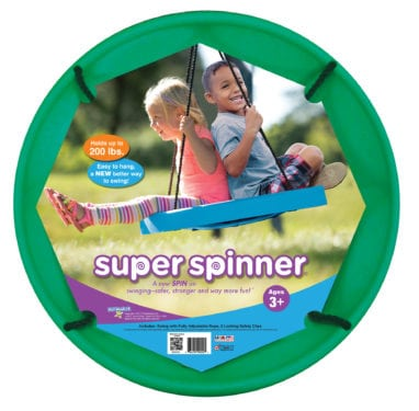 The Super Spinner is a NAPPA Winner for Best Outdoor Toys