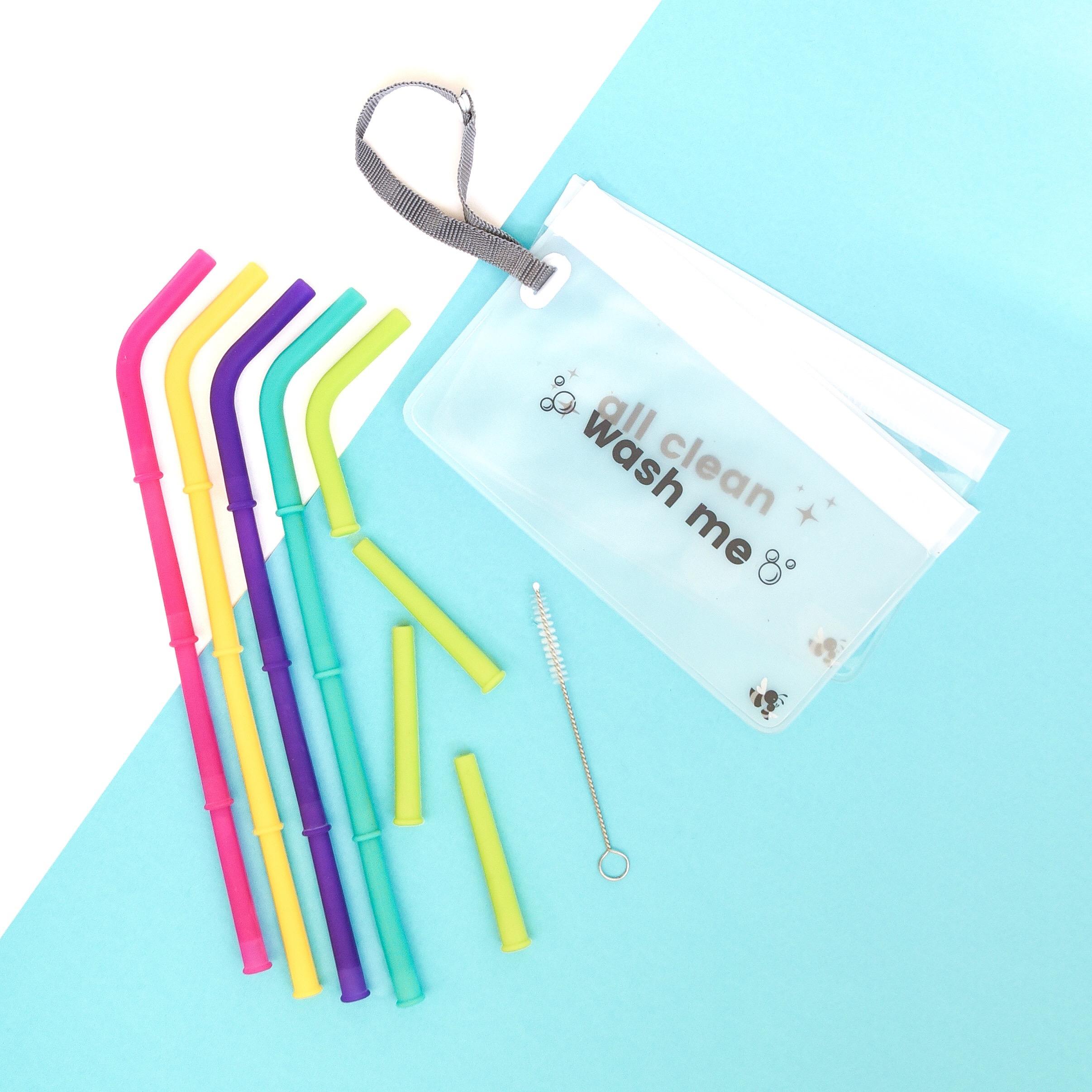 Build-A-Straw Reusable Silicone Straws Starter Kit