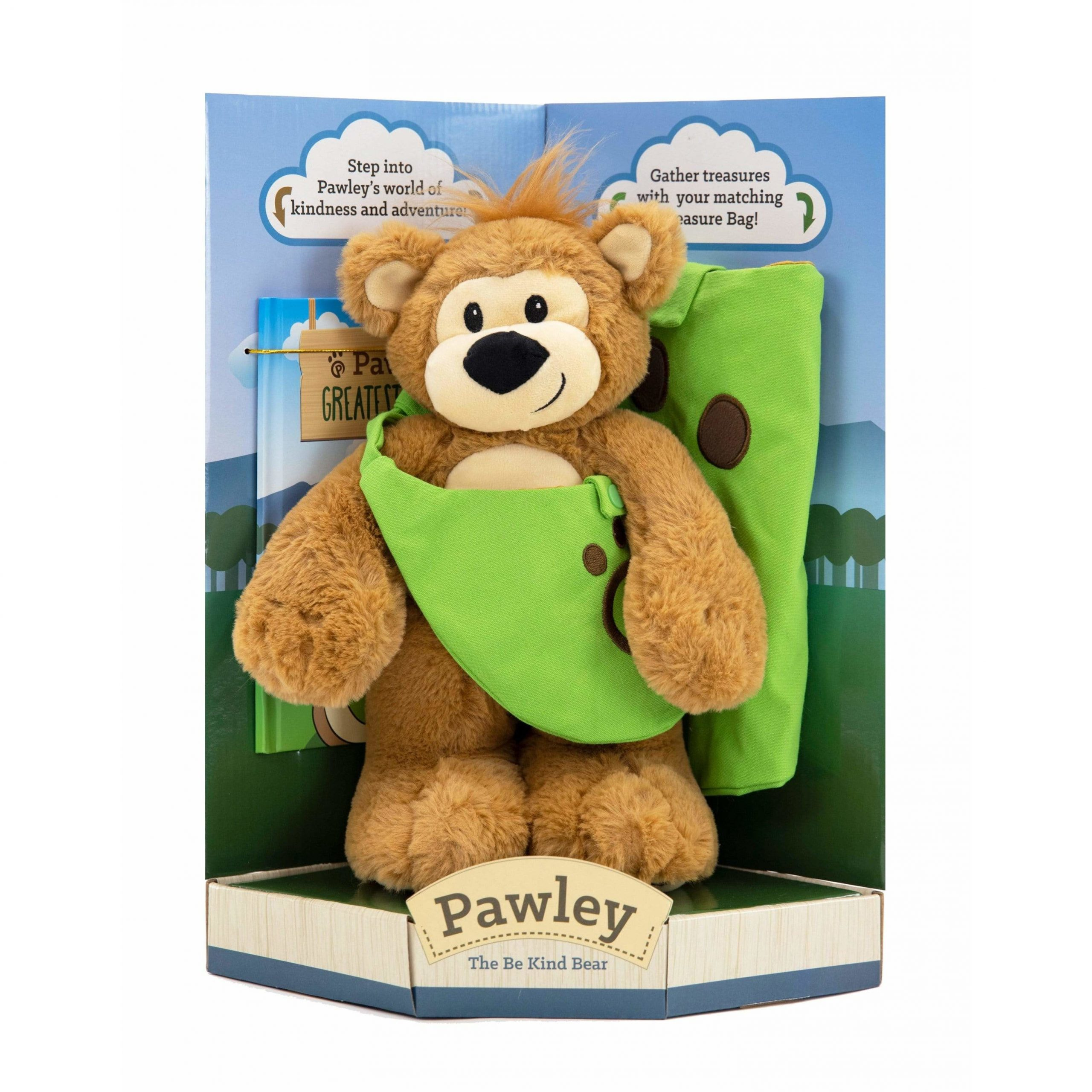 Pawley Bear with Storybook and Adventure Bag