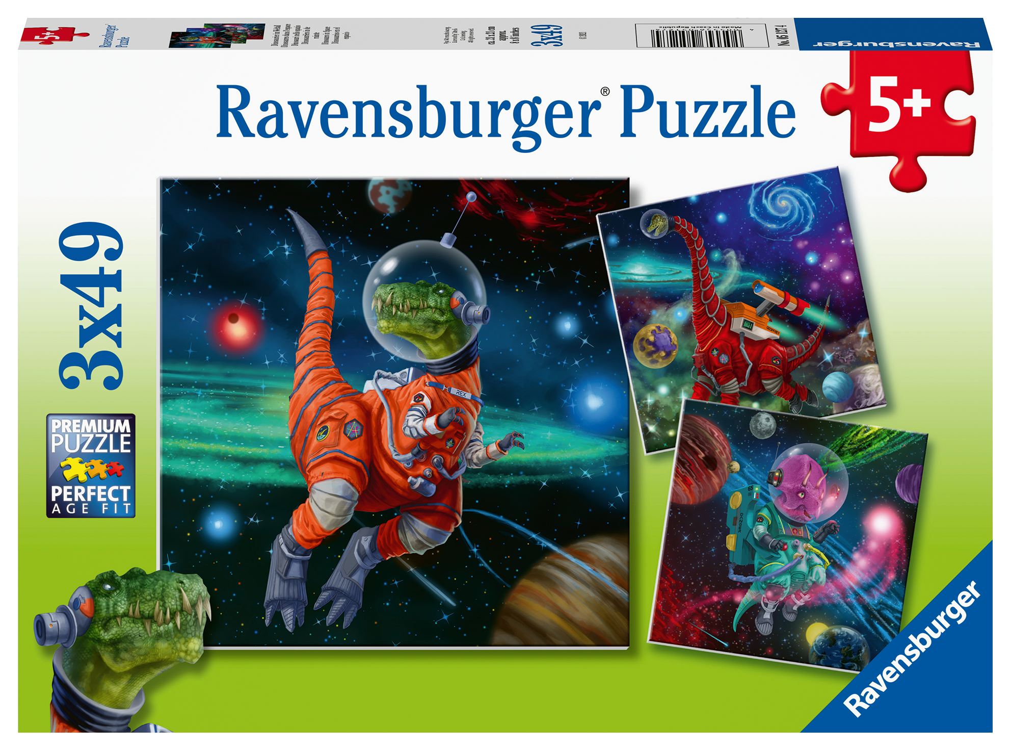 Dinosaurs in Space 3X49-piece Puzzle