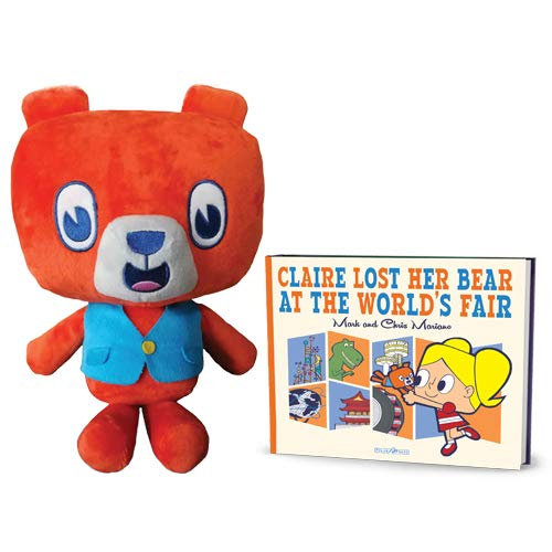 Claire Lost Her Bear at the World's Fair and Benny Bear Book and Stuffed Toy Bundle