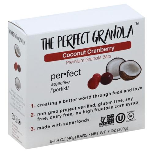 The Perfect Granola – Coconut Cranberry Granola Bars