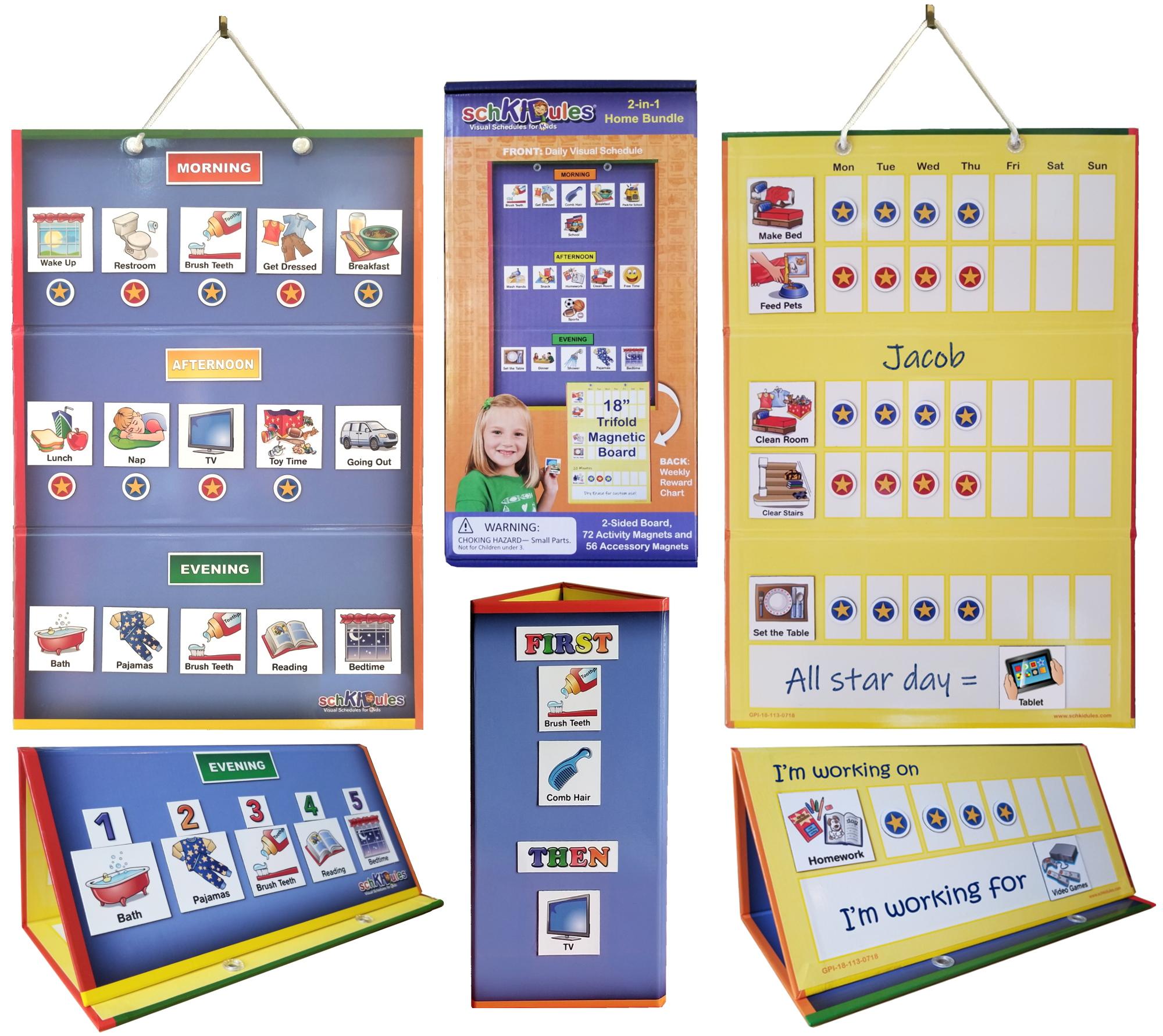 SchKIDules 2-in-1 Home Bundle Visual Schedule