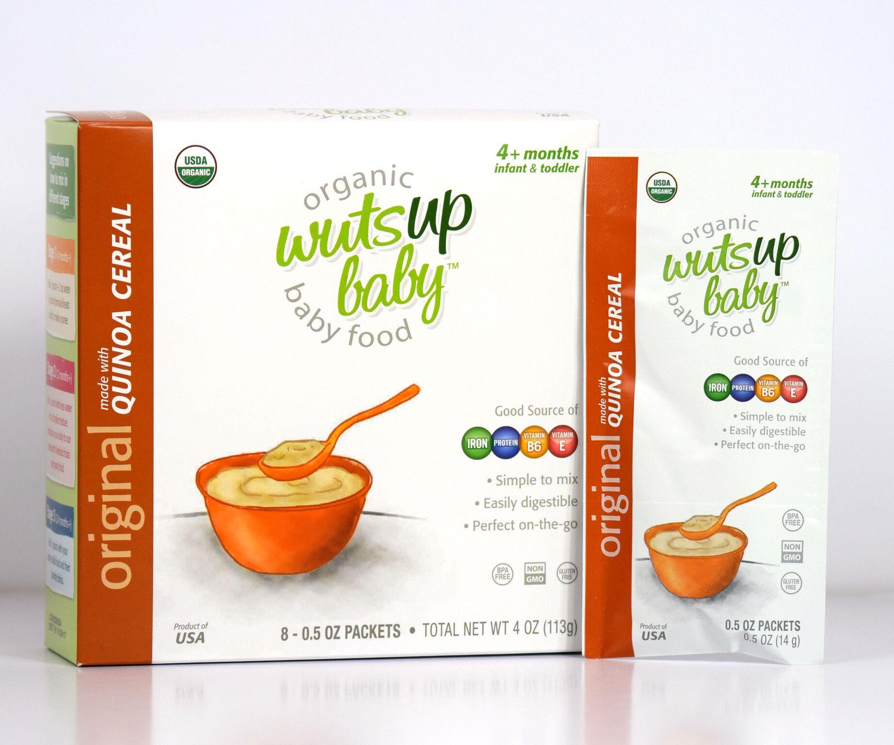 Organic Quinoa Cereal – WutsupBaby Original Quinoa Cereal Pouches