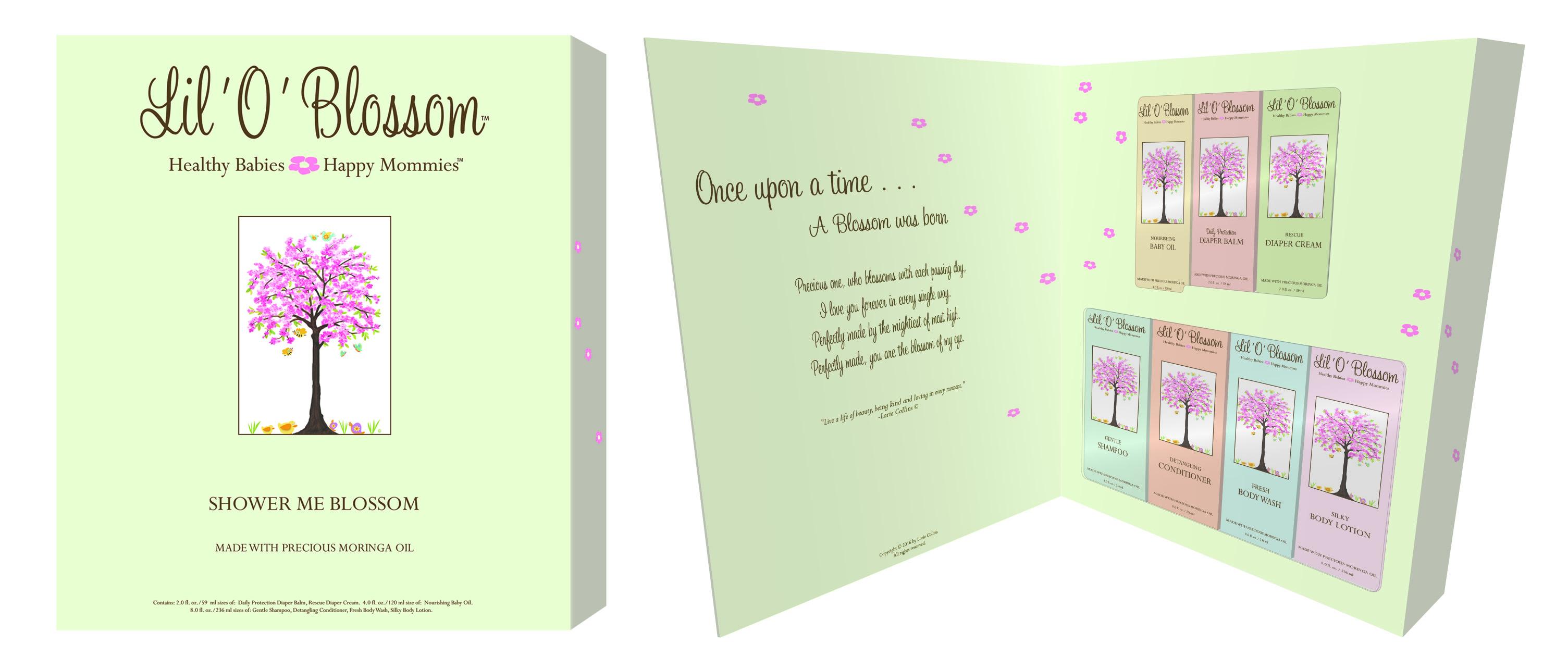 Shower Me Blossom Storybook Gift Set