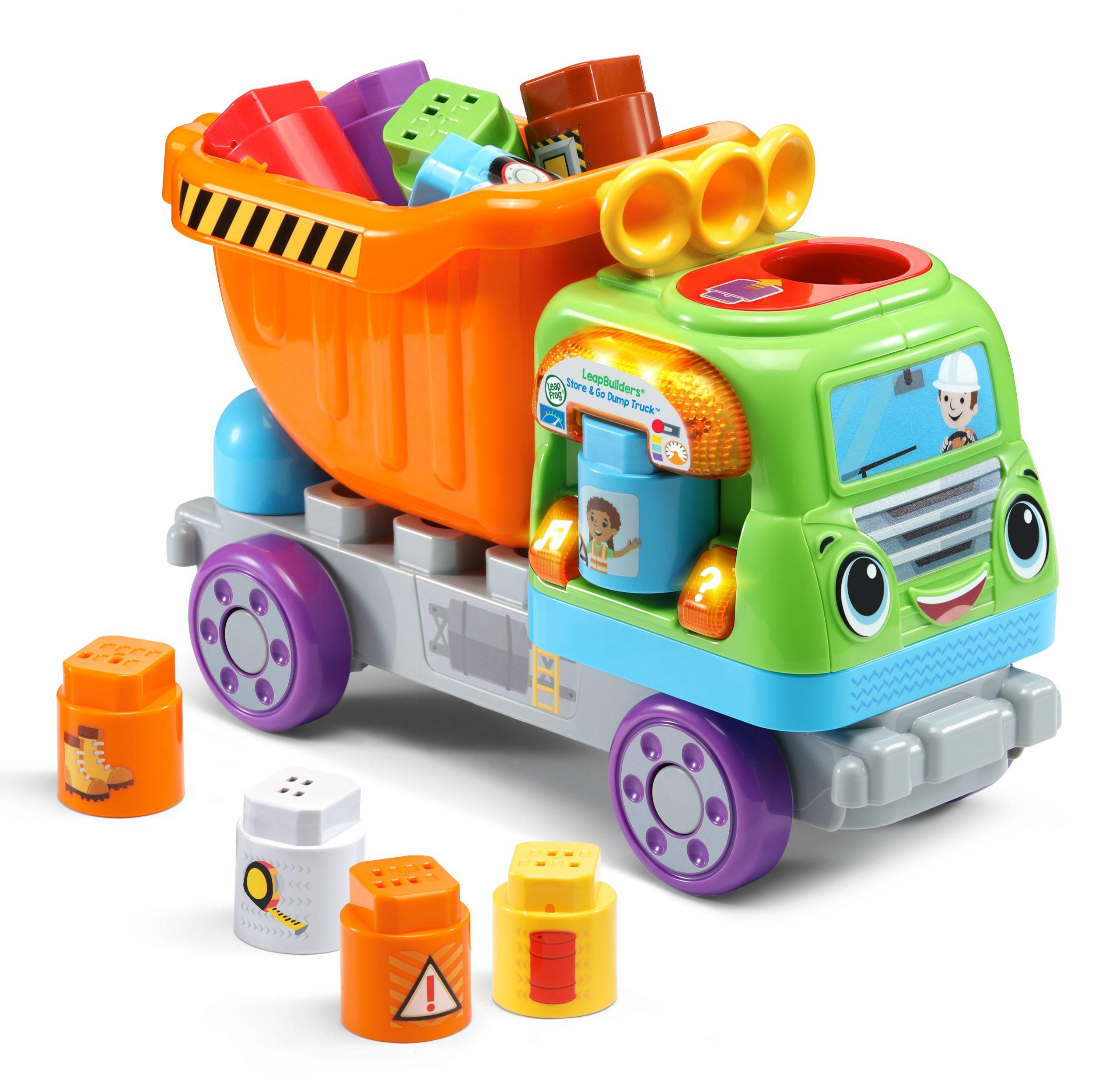 LeapBuilders Store & Go Dump Truck