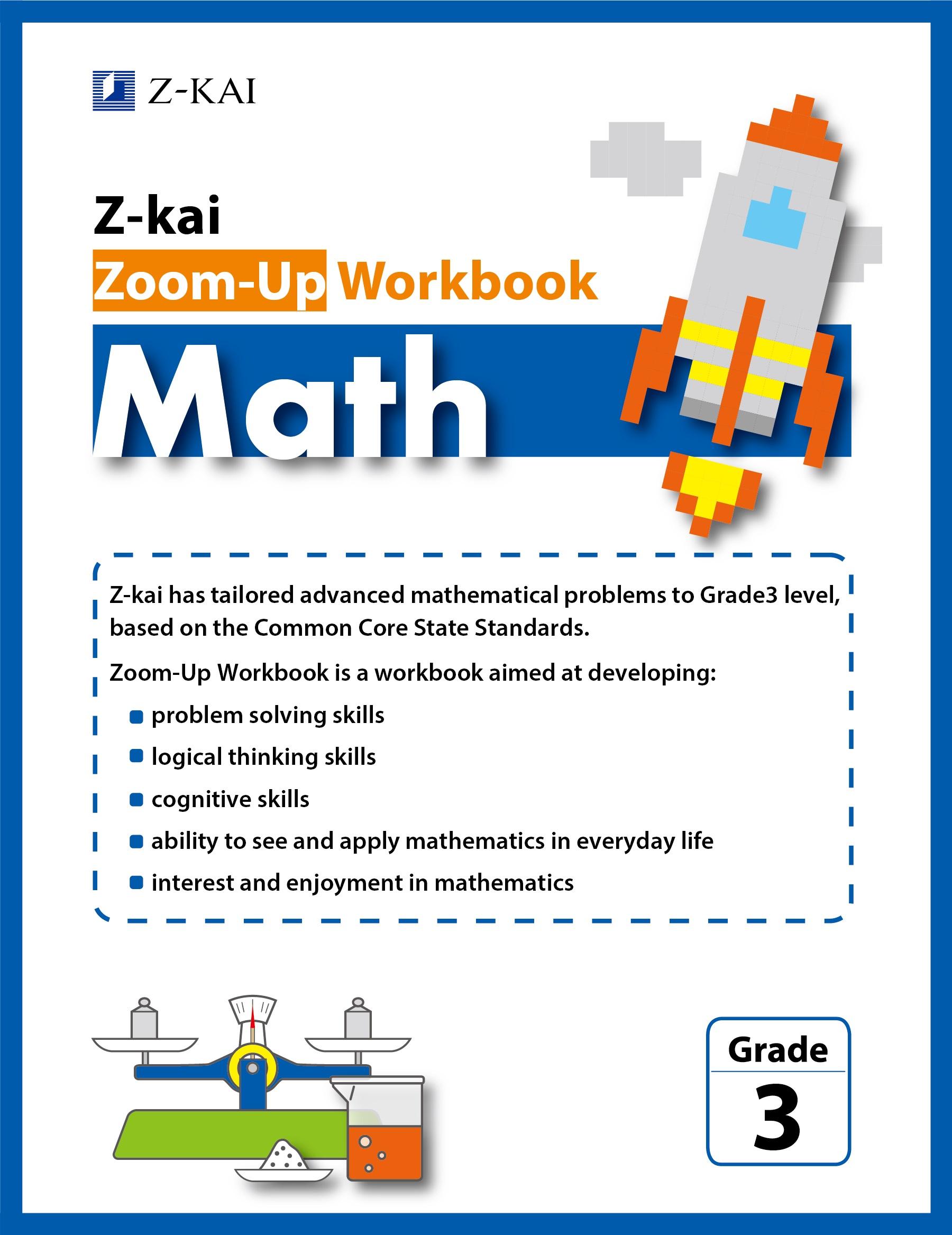 Z-kai Zoom-Up Workbook Math Grade 3