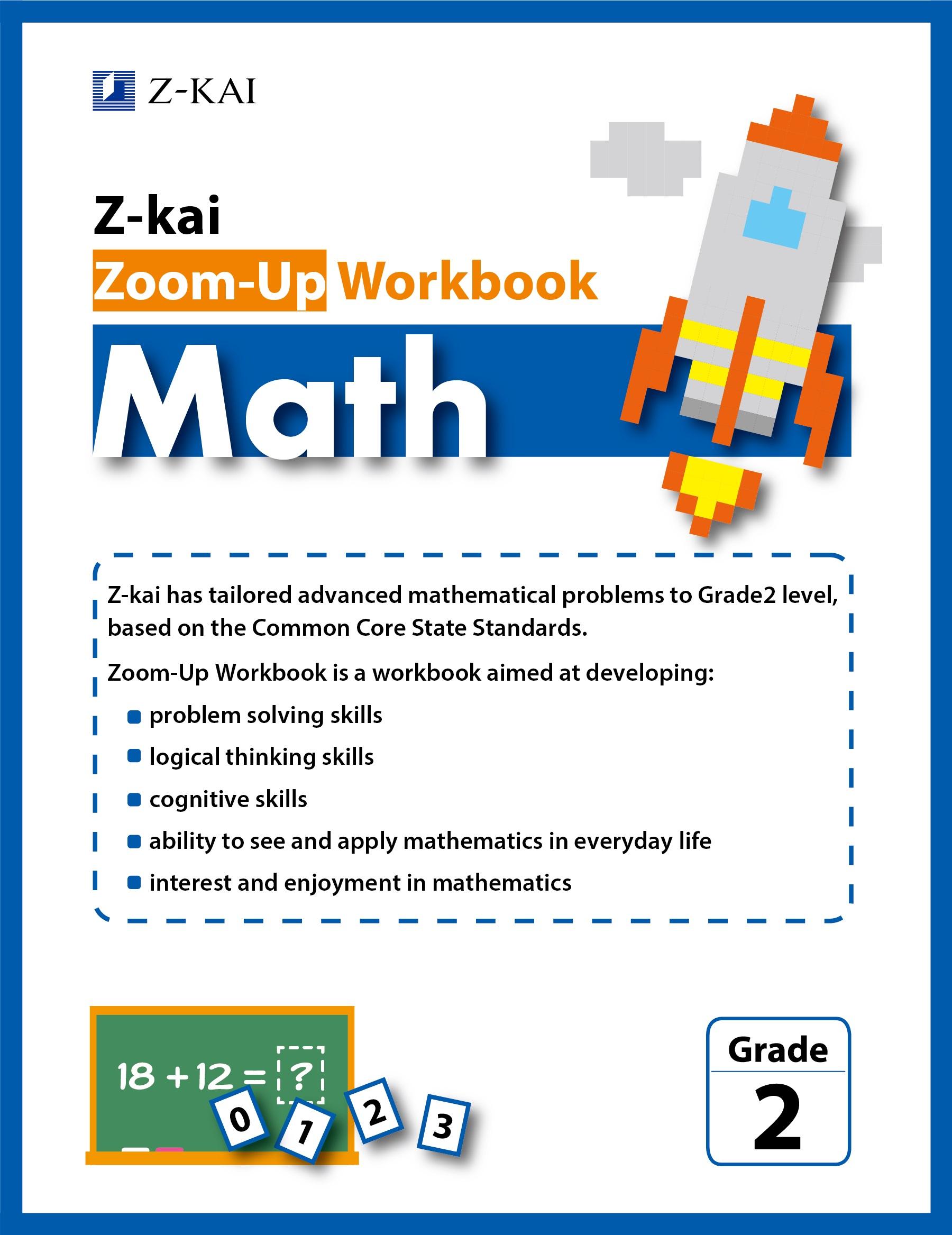 Z-kai Zoom-Up Workbook Math Grade 2