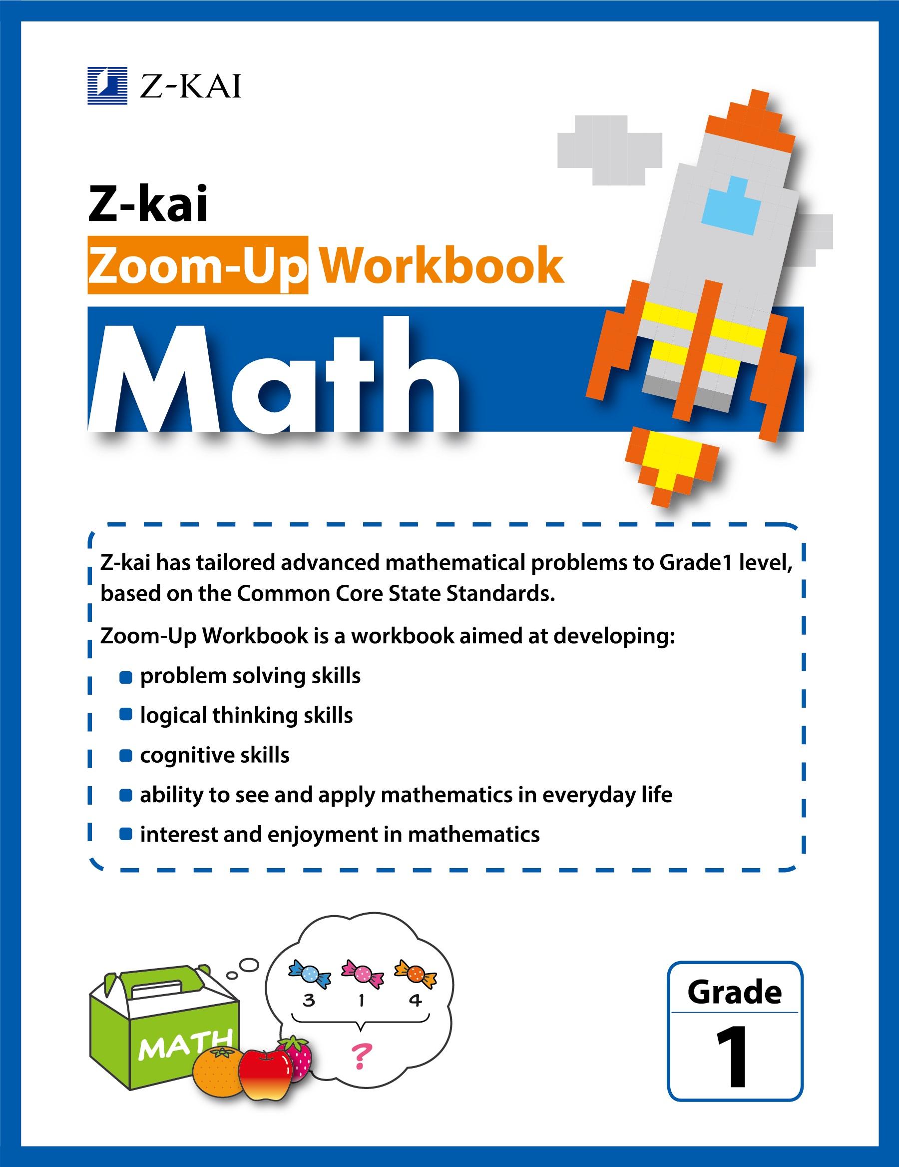 Z-kai Zoom-Up Workbook Math Grade 1
