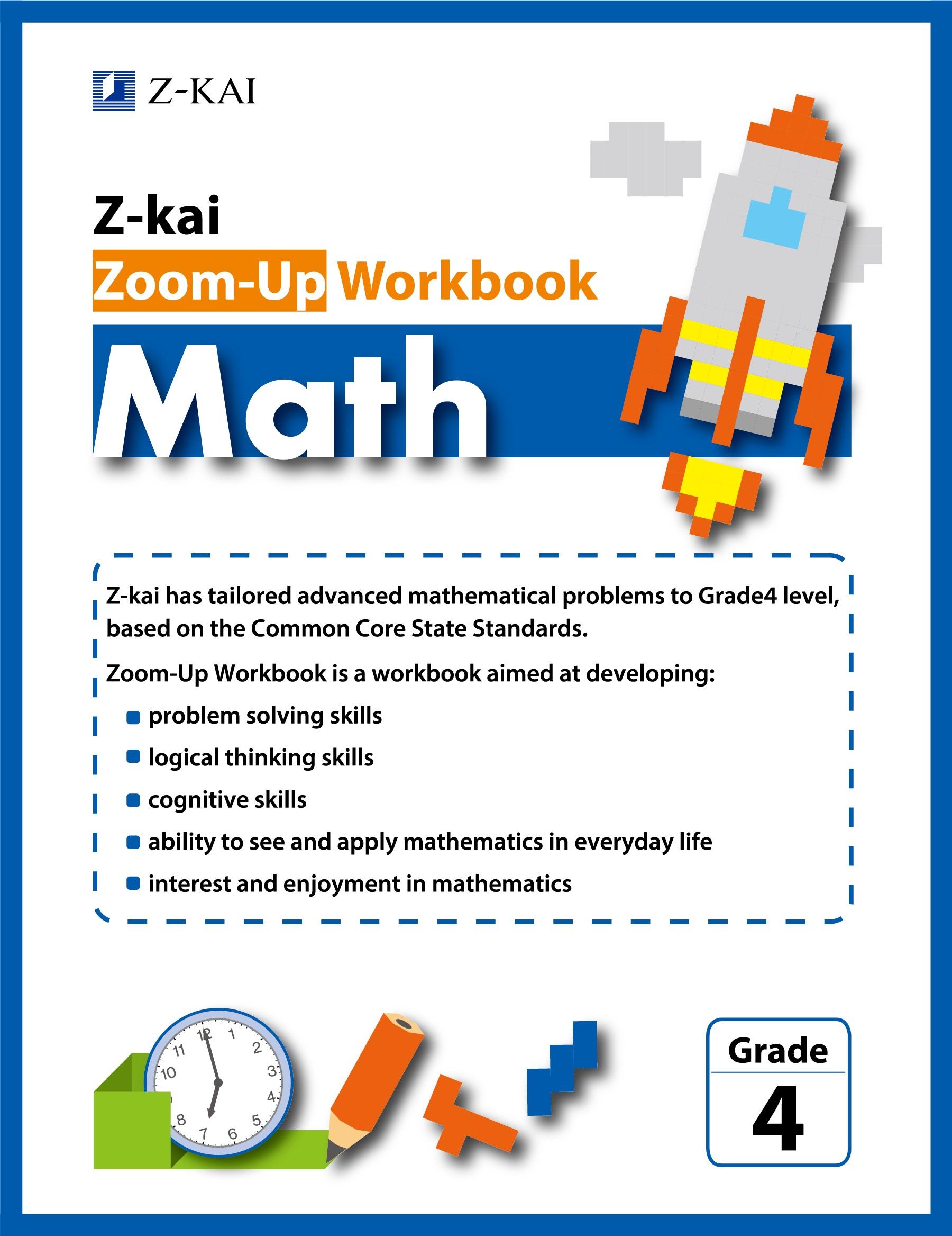 Z-kai Zoom-Up Workbook Math Grade 4