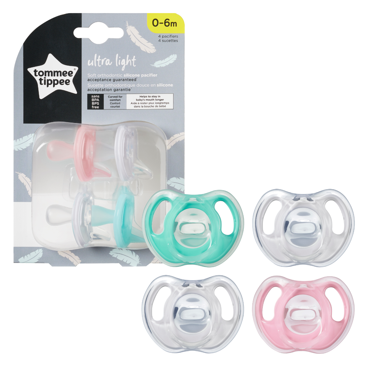Ultra-Light Silicone Pacifier