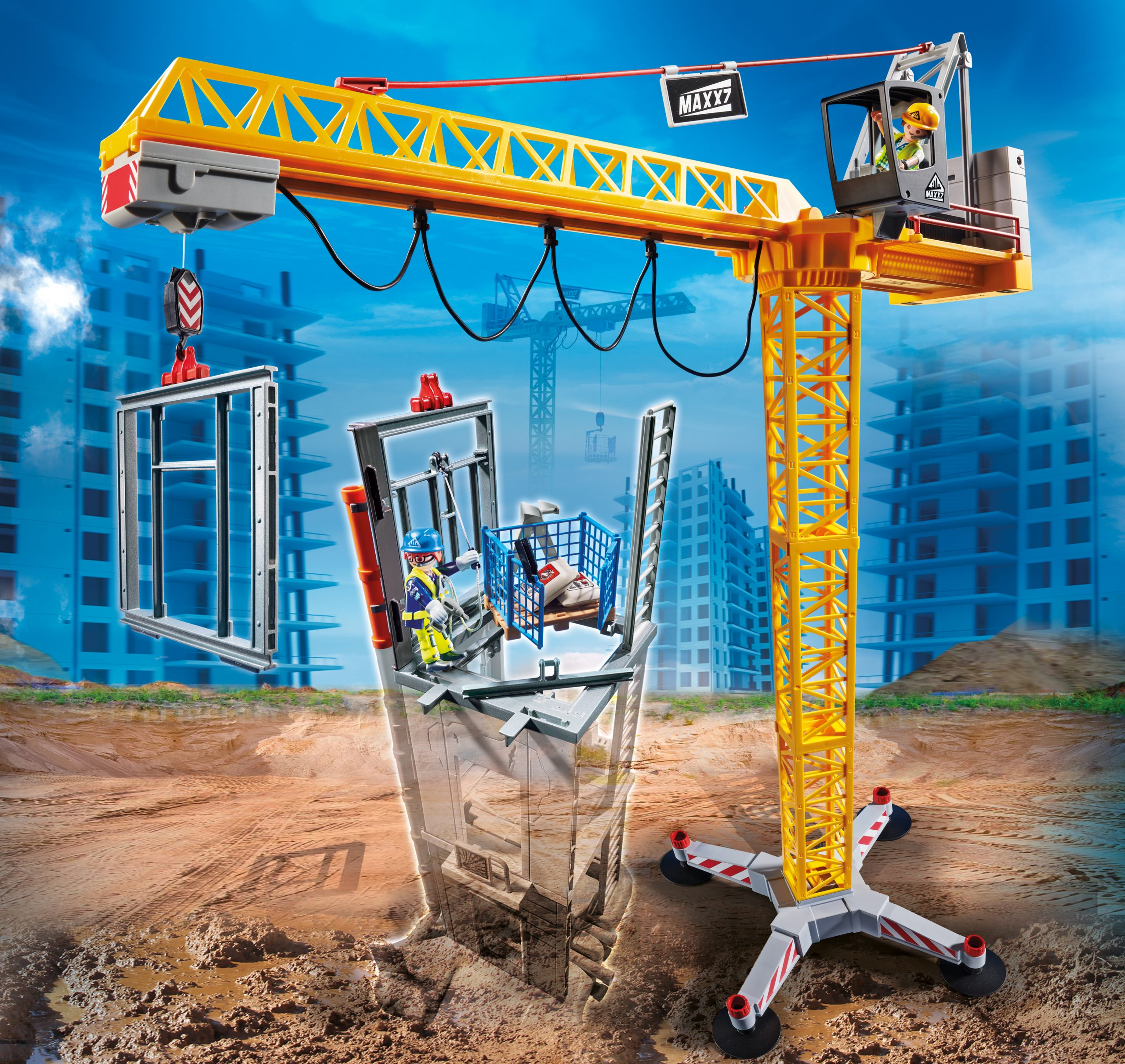 RC Crane with Building Section