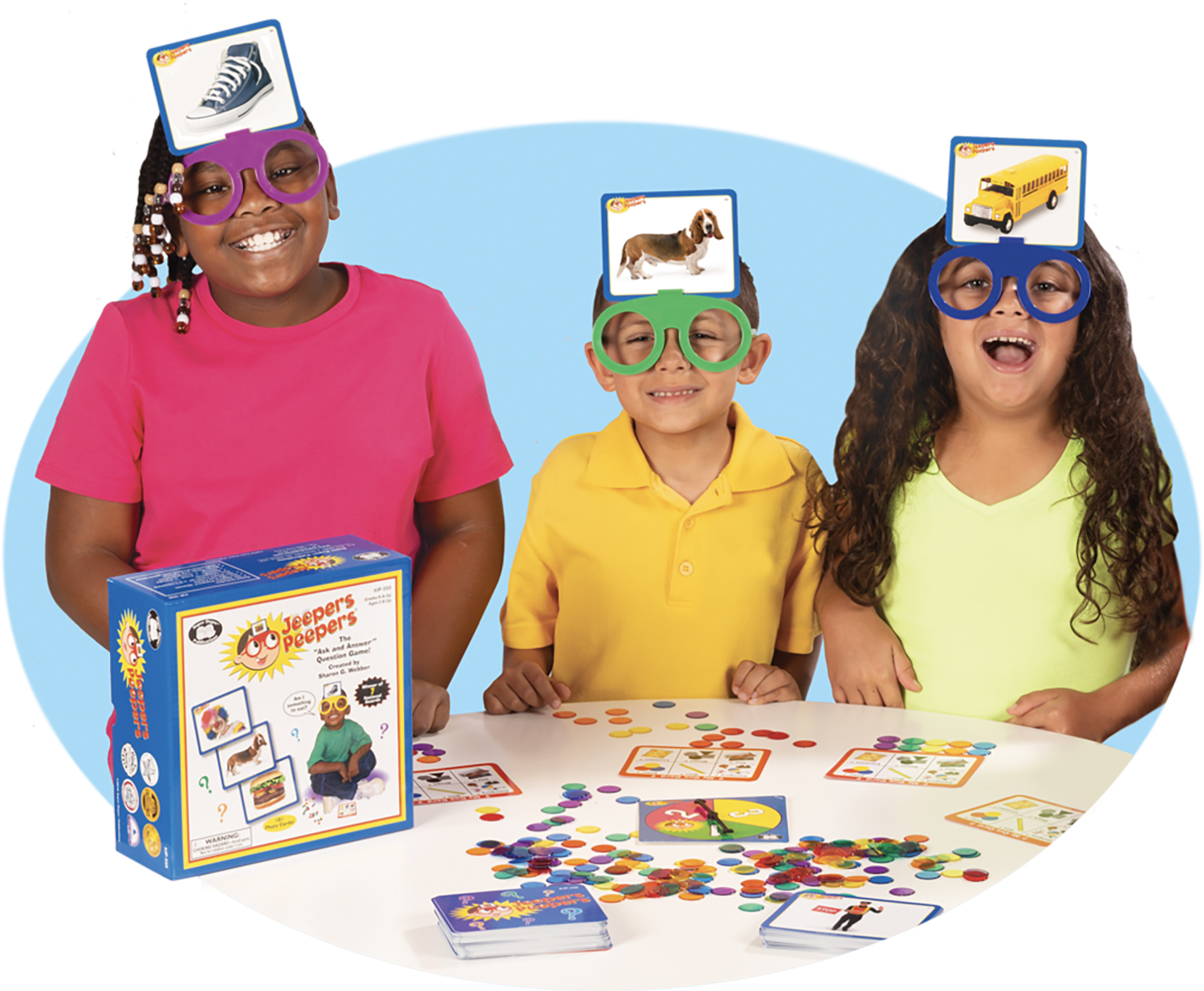 """Jeepers Peepers ® The """"Ask and Answer"""" Question Game Party Pack"""