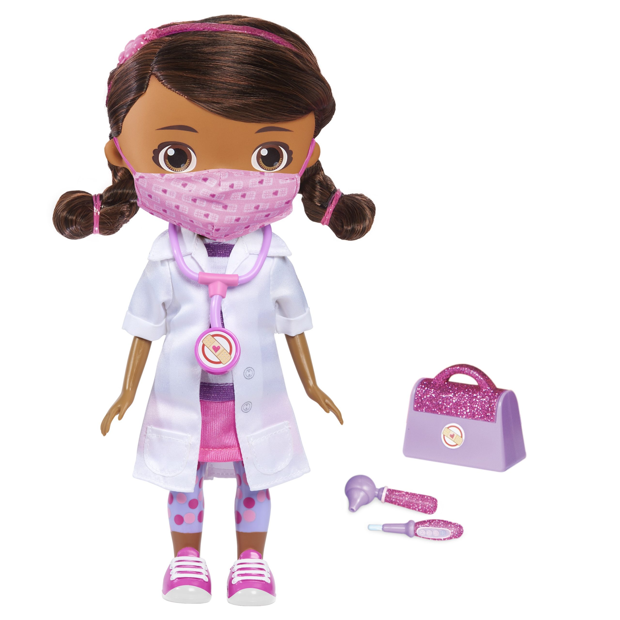 Disney Junior Doc McStuffins Wash Your Hands Singing Doll, With Mask & Accessories