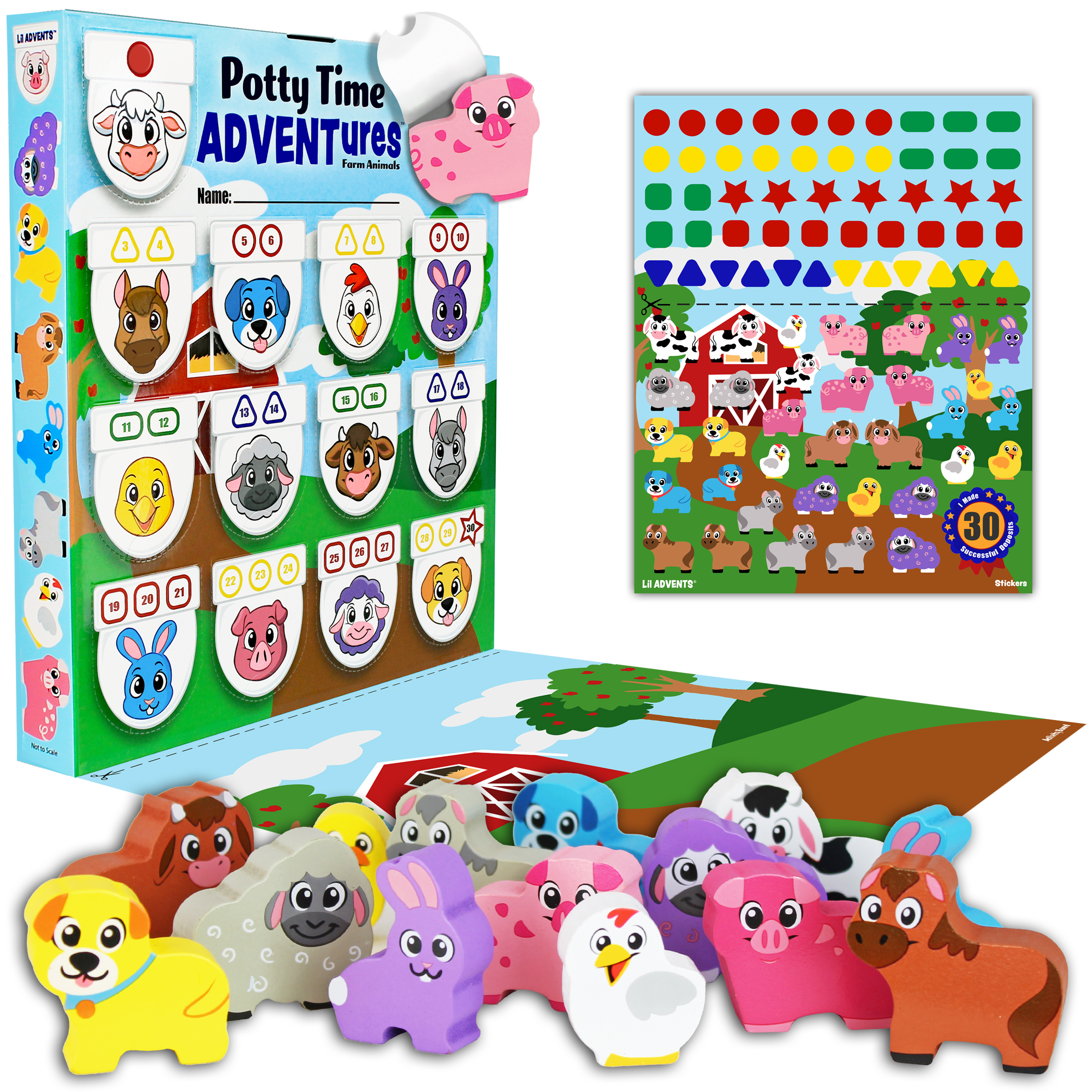 Potty Time ADVENTures – Farm Animals, Dinosaurs and Busy Vehicles