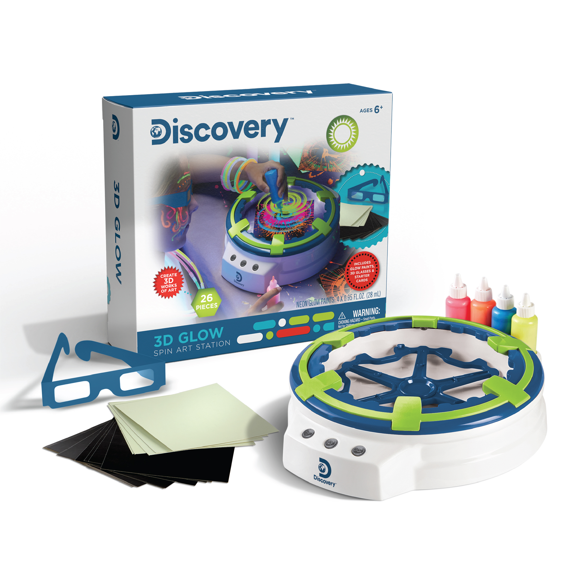 3D Glow Spin Art Station