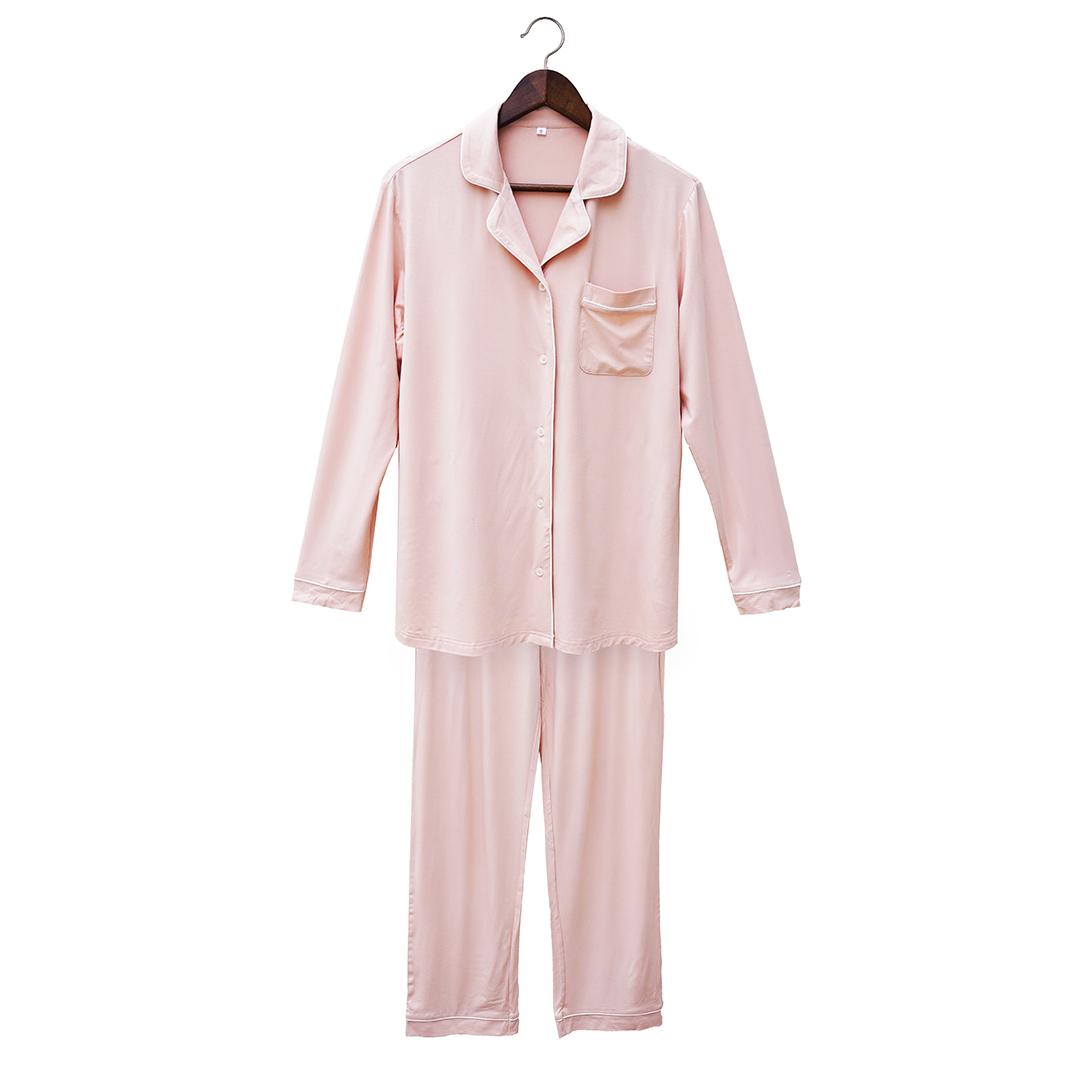 Clea Bamboo Long Sleeve Classic Pajama Set
