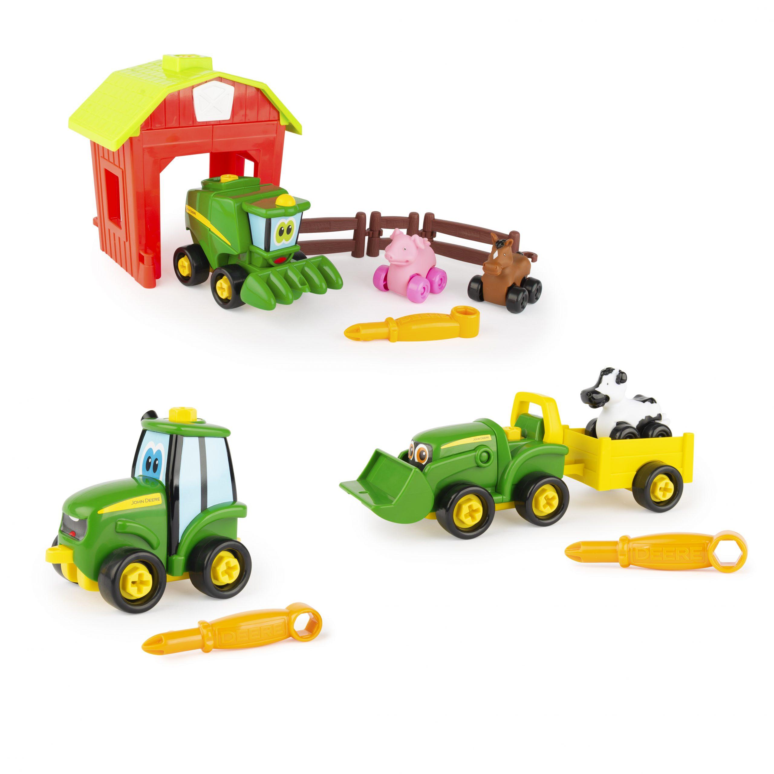 TOMY John Deere Build-A-Buddy Value Bundle 3-in-1 Toy Set