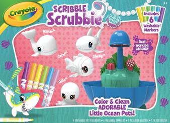 Scribble Scrubbie Ocean Pets Lagoon Playset
