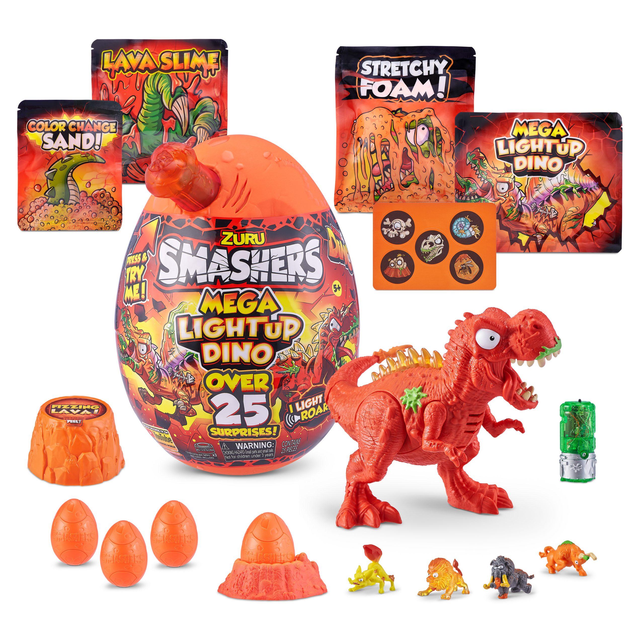 Smashers Lava Light Up Dino Mega Surprise