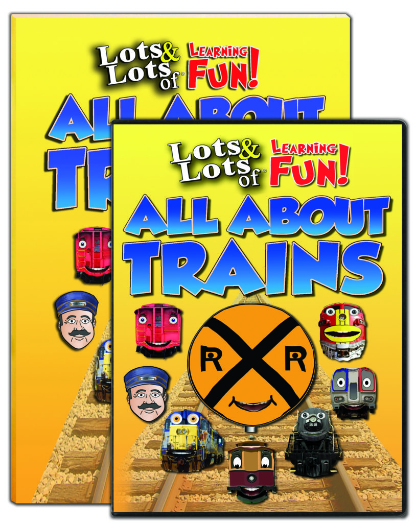 All About Trains Book and DVD Combo